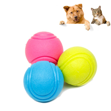 4PC Small Dog Toys For Dogs Chew Puppy Dogs Toys Pets Rubber Ball Resistant Bite Chew Training Toy For Pet Clean Teeth Dog Games(China)