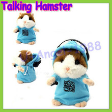 Free shipping+Talking Hamster Mouse Vole Headphone Pet Plush Toy Hot Cute Speak Talking Sound Record Hamster Drop Ship Wholesale
