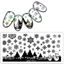 1 Pc 6*12CM Christmas&Halloween Pattern Nail Stamping Plates Image Konad Stamping Nail Art Manicure Template Nail Stamp Tools(China)