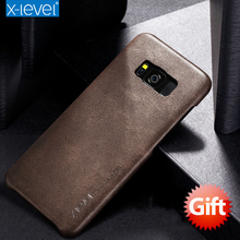 X-Level Leather Phone Case For Samsung Galaxy S8 Plus Ultra thin PU Back case For Samsung Galaxy S8