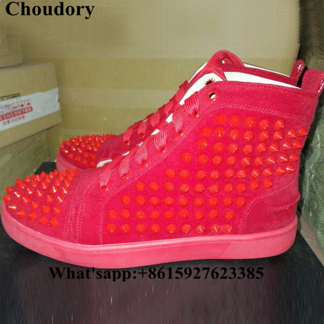 Choudory Italian Fashion Designer Spikes Flat For Men High Top Casual Shoes Super Stars Style