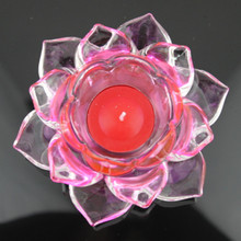 Lotus Flower Crystal Figurines Miniatures Luxury Glass Flower Ornaments Home Decoration Accessories(China)