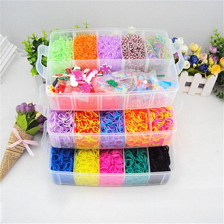 Fashion Children Headwear DIY Loom Rainbow Develop intelligence Gum Elastic Band Hair Accessories Gum Scrunchies Happy Childhood<br>