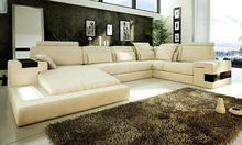 Hot Sale Sofa Modern Design Couches living room furniture Sofa Real leather large size U Shaped Corner Sofa Set Furniture Set