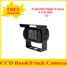 HD CCD Car Rear View Camera Reverse backup Camera rearview parking vide angle 18 IR Nightvision Waterproof Bus Truck Camera(China)