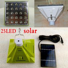 25 led solar light garden decoration solar lamp led light outdoor dimmable indoor solar lights + solar panel emergency lighting