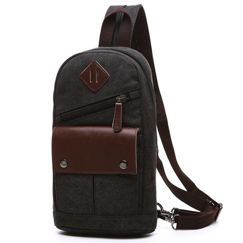 Vintage Rucksack Canvas Men Backpack Male Students School Bags Retro Man One Shoulder Chest Bags Triangle Back Pack Bolsas<br>