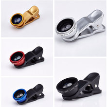 Universal 3 in 1 FishEye + Macro + Wide Angle Mobile Phone Lenses For iphone For Camera Samsung Galaxy S6 phone camera