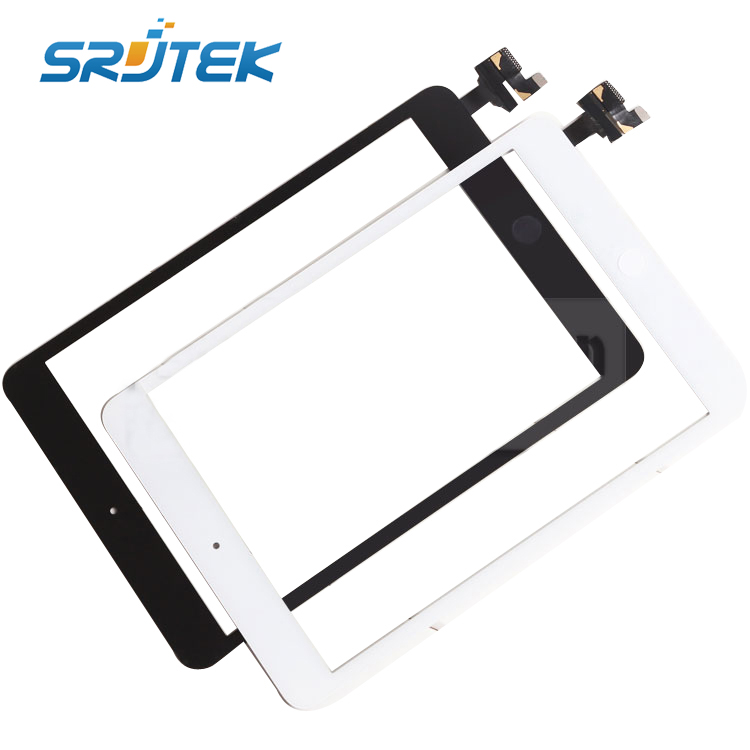 10 pcs/lot for iPad mini Touch Screen Glass Digitizer Assembly with IC Connector &amp; Home Button full set Complete<br><br>Aliexpress
