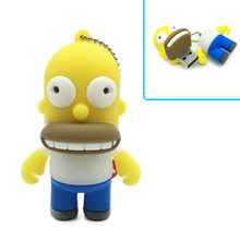 Wholesale Price Simpson family Shape USB Flash Drive 4gb 8gb 16gb 32gb 64gb Usb disk pen drive Memory Stick pendrive U Disk