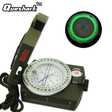 Portable Military Army Compass Lensatic Prismatic Compass Multifunctional Outdoor Camping Tools with Fluorescent Light(China)