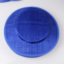Free shipping 31CM royal blue sinamay fascinator base big size hats DIY fascinator hair accessories cocktail 6pieces/lotMYQH26RO