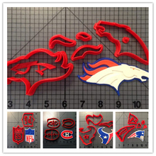 Custom Made 3D Printed Football Team Logo Fondant Cupcake Top Cookie Cutter Set