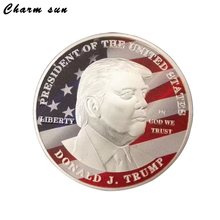 New Design 40mm President Donald Trump Commemorative Coins White House Gold and Silver Color Coins For Collection Lovers