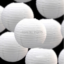 "DIY 10pcs/lot 8"" White Chinese Paper Lanterns Wedding Birthday Party Baby Shower Decorations Holiday Supplies(China)"