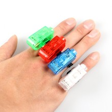 Wholesale LED finger light,4 color Laser finger lamp for party/birthday/Chistmas decoration led finger Ring lights