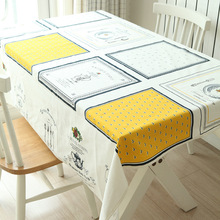 Useber Simple style linen table cloth tablecloth round tablecloth rectangular restaurant coffee table towel cloth