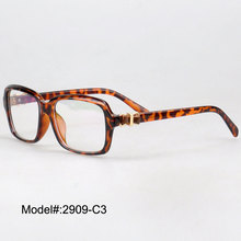 2909 Woman's crystal prescription eyewear vintage RX glasses metal plastic optical frames(China)