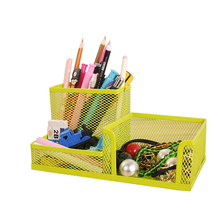 Pen Holder Office Storage Box Desk 3 Divided Stationery Case Office Organizer Accessories Supplies Gear Stuff Product(China)