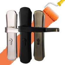 Interior Door Mortise Lock Handle Euro Cylinder Hardware Mute Zinc Alloy for Plank 35-45mm Universal Simple 5 Colors