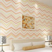 Simple Wave type Geometric Wallpaper Blue Green Grey Zigzag Waves Stripes Patterned Wall Covering Modern Bedroom Living Room