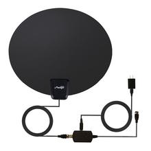 USA Dispatch Outdoor HDTV TV Antenna Motorized Amplified High Gain 60MILES Digital Antenna Black Colorsupplies