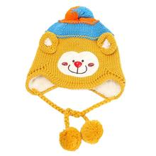 Baby Kids Cute Warm Winter Knit Monkey Hat Cap Sep 25(China)