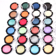 2017 Brand Miss Rose Makeup Kit Metallic Eye Shadow Mineral Shimmer Powder Makeup Glitter Baked Single Eyeshadow Palette