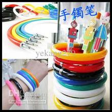 New Arrival Canetas 500pcs Novelty Bracelet Rollerball Pens Ball Point Pen Bangles Pencil Children's Toys Free Shipping