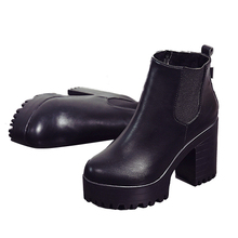 VSEN Hot Women's Thick with Plus velvet BOOTS High Waterproof table round head Martin boots