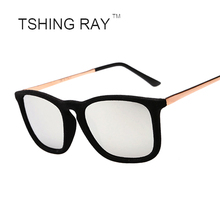 TSHING RAY New Fashion Women Square Sunglasses Brand Designer Velvet Sun Glasses Superstar Winter Shades Mirror Sunglasses UV400