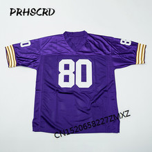 Retro star #80 Cris Carter Embroidered Throwback Football Jersey(China)