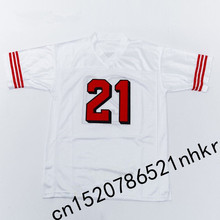 Retro star #21 Deion Sanders Embroidered Name&Number Throwback Football Jersey+1(China)
