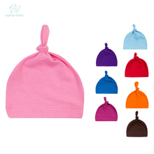 EGMAOBABY New Comfort Cartoon Baby Toddlers Cotton Sleep Cap Headwear Cute Hat Mult-color Baby Organic Knotted Hat(China)