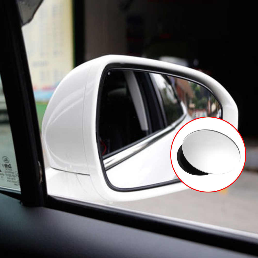Car Rear view Convex Mirror 360 Degrees Rotating Wide Angle Round Convex Mirror Wide Angle Blind Spot Auto Exterior Accessory