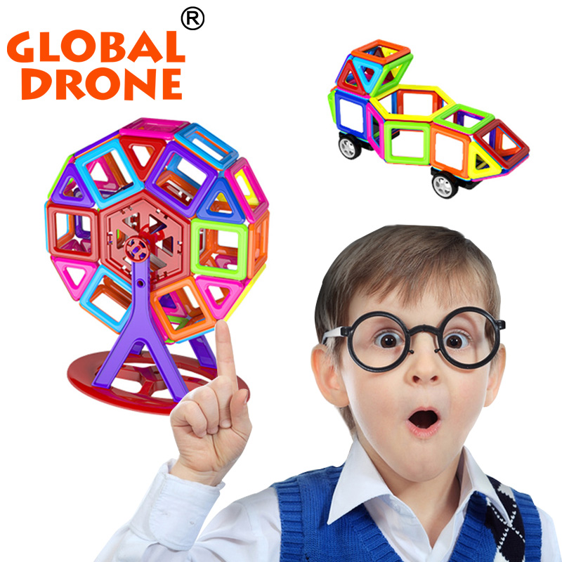 Global Drone 56Pcs/Set Mini Magnetic Construction Toy Kids Educational Creative Bricks Enlighten Magnetic Building Blocks<br>
