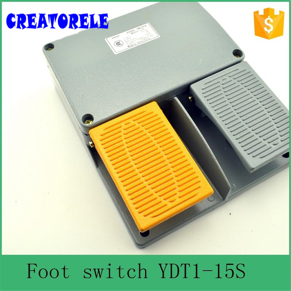 YDT1-15S  industry IP67 fender foot operated swItch with push button,infinity doubIe pedaI foot pedaI swItch<br>