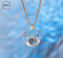 European Style rose gold collar necklace Cube Pendant long necklace for women perfume women charm