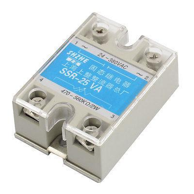 SSR-25VA 25A AC 24-380V Output Covered Adjustable Solid State Module Relay<br><br>Aliexpress