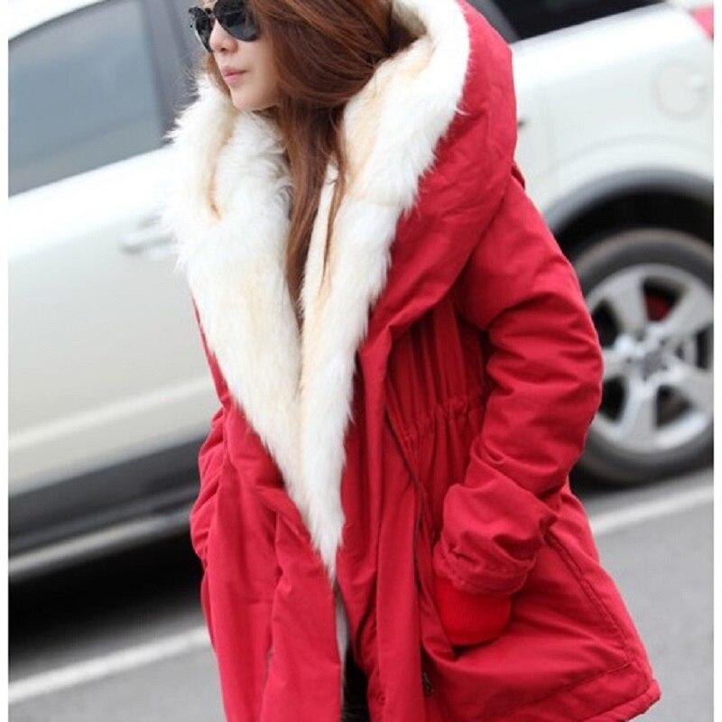 Winter Jacket Women Long Jacket Coat Elegant Slim Parka Warm Hooded Fur Collar Îäåæäà è àêñåññóàðû<br><br>