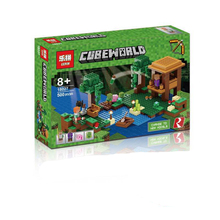 LEPIN NEW 18027 MY WORLD 500pcs The Farm Steve Skeleton Sheep Minecrafted Building Blocks Bricks Set Toy Boy Gift