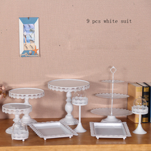 9 pcs gold party cake stand set cupcake stand decorating cooking cake tools bakeware set party dinnerware