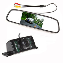 480 x 272 4.3 Inch TFT LCD Display Car Rear View Mirror Monitor + 7 IR Lights Night Vision RearView Reversing Backup Camera(China)