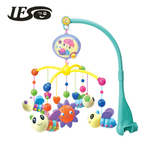 IFSO 601-1 Musical Baby Bed Bell. Baby Rattles with 20 Music, 360 Degrees Rotate Colorful Honeybee(China)