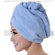 2017 High Quality Microfiber Bath Towel Hair Dry Quick Drying Lady Bath towel soft shower cap hat for lady man(China)