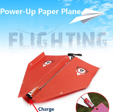 Funny Diecasts Toy Vehicles Power-Up Electric Paper Plane Airplane Conversion Kit Fashion Educational Toys Great(China)