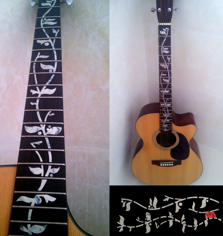 Надпись на грифе гитары своими руками 4