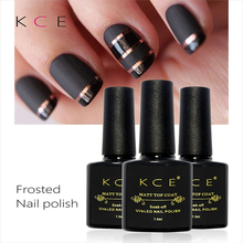 Hot Products KCE NEW 1pc 10ml Matt Varnish Matte Top Coat Nail Gel Polish Nail Art Finish Top Coat Gel Lacquer Matt Top Gel(China)