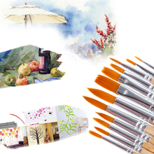 12Pcs Brush Set for Art Painting Oil Watercolor Drawing Craft Tool DIY Kid Child Drop Ship(China)