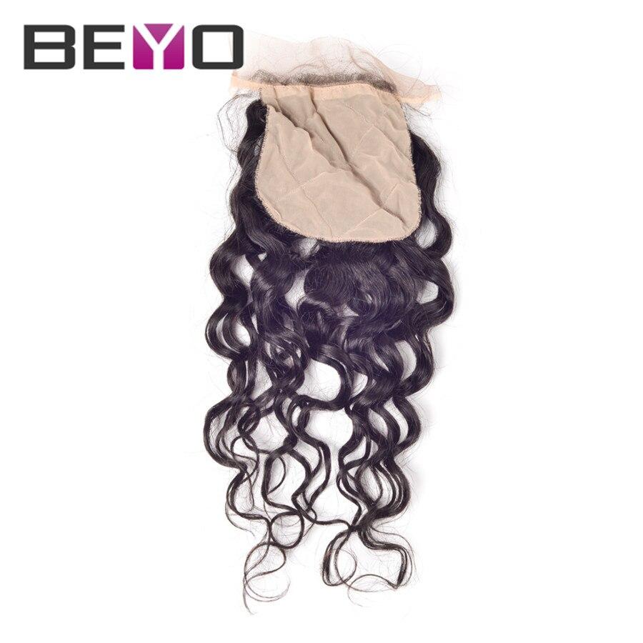 Beyo Hair 7A Virgin Malaysian Natural wave Silk Base Closure Free Part Cheap Silk Base Closures Brazilian Hai 4x4 Silk Closure<br><br>Aliexpress